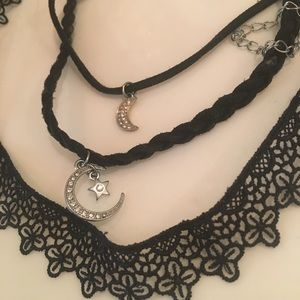 3 cute sexy black trendy girly necklace chokers